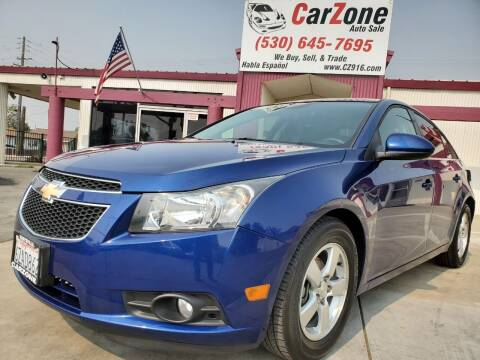2012 Chevrolet Cruze for sale at CarZone in Marysville CA