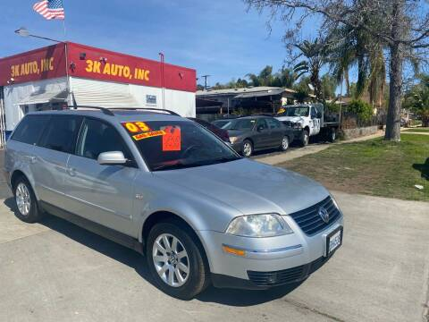 2003 Volkswagen Passat for sale at 3K Auto in Escondido CA