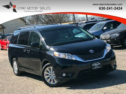 2014 Toyota Sienna for sale at Star Motor Sales in Downers Grove IL