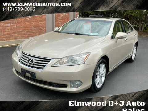 2012 Lexus ES 350 for sale at Elmwood D+J Auto Sales in Agawam MA