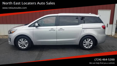 2016 Kia Sedona for sale at North East Locaters Auto Sales in Indiana PA