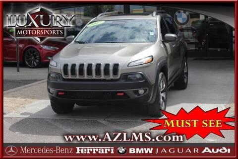 2017 Jeep Cherokee for sale at Luxury Motorsports in Phoenix AZ