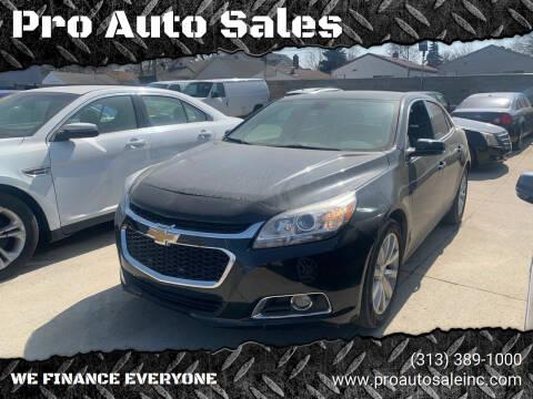 2014 Chevrolet Malibu for sale at Pro Auto Sales in Lincoln Park MI