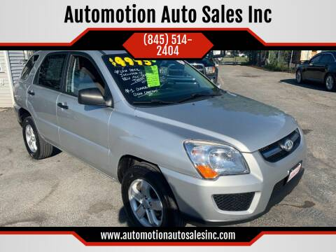 2010 Kia Sportage for sale at Automotion Auto Sales Inc in Kingston NY