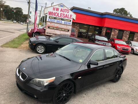 2006 BMW 5 Series for sale at HW Auto Wholesale in Norfolk VA