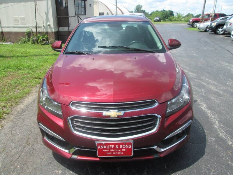 2015 Chevrolet Cruze for sale at Knauff & Sons Motor Sales in New Vienna OH