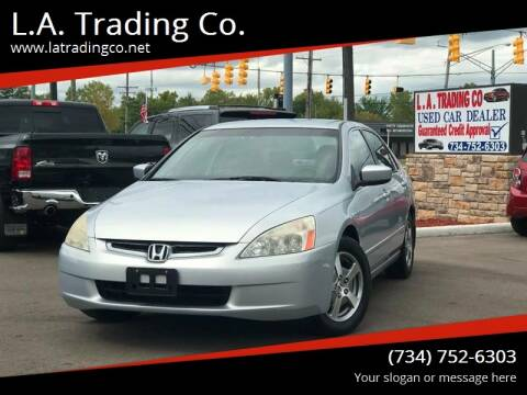 2005 Honda Accord for sale at L.A. Trading Co. Woodhaven in Woodhaven MI