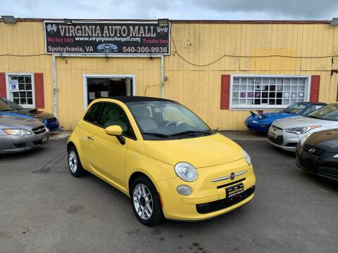 2012 FIAT 500c for sale at Virginia Auto Mall in Woodford VA