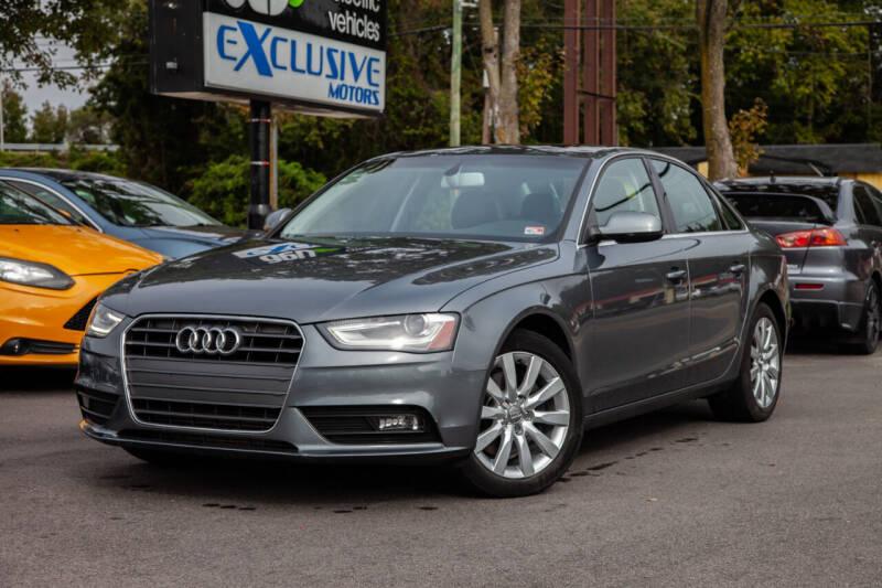 2013 Audi A4 for sale at EXCLUSIVE MOTORS in Virginia Beach VA