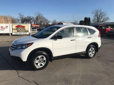 2012 Honda CR-V for sale at Cordova Motors in Lawrence KS
