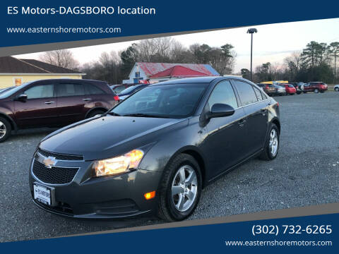 2013 Chevrolet Cruze for sale at ES Motors-DAGSBORO location in Dagsboro DE