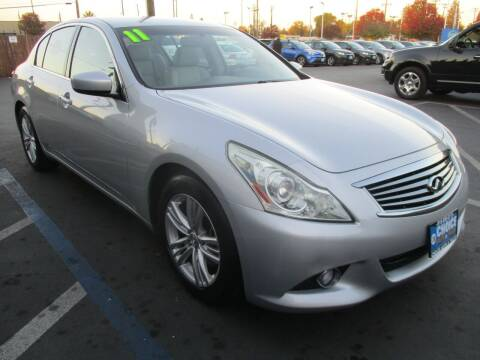 2011 Infiniti G37 Sedan for sale at Choice Auto & Truck in Sacramento CA