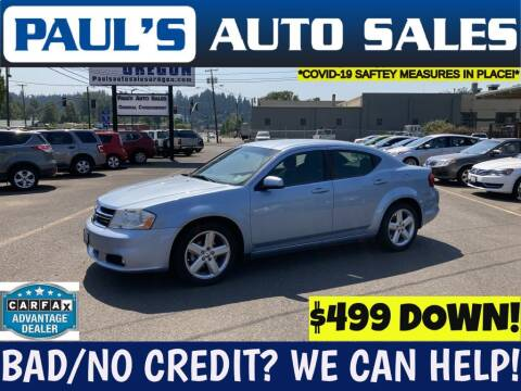 2013 Dodge Avenger for sale at Paul's Auto Sales in Eugene OR