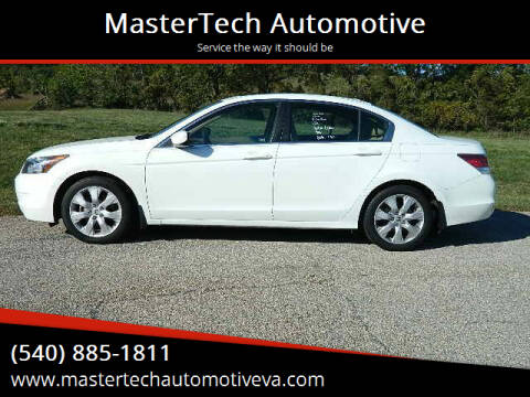 2010 Honda Accord for sale at MasterTech Automotive in Staunton VA