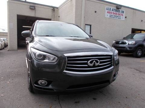 2013 Infiniti JX35 for sale at ACH AutoHaus in Dallas TX