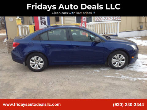 2013 Chevrolet Cruze for sale at Fridays Auto Deals LLC in Oshkosh WI