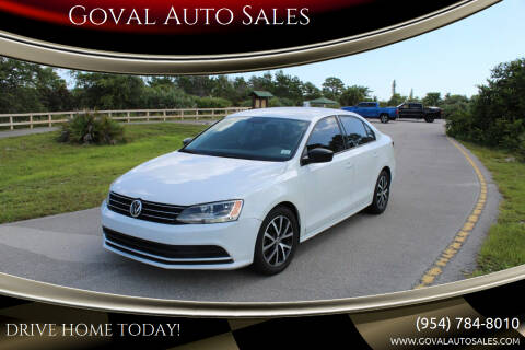 2016 Volkswagen Jetta for sale at Goval Auto Sales in Pompano Beach FL