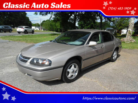 2003 Chevrolet Impala for sale at Classic Auto Sales in Maiden NC