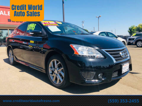 2015 Nissan Sentra for sale at Credit World Auto Sales in Fresno CA