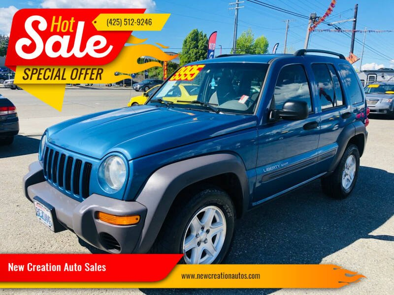 2003 Jeep Liberty for sale at New Creation Auto Sales in Everett WA