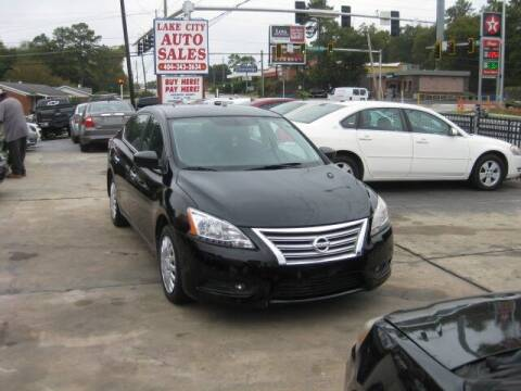 2013 Nissan Sentra for sale at LAKE CITY AUTO SALES in Forest Park GA