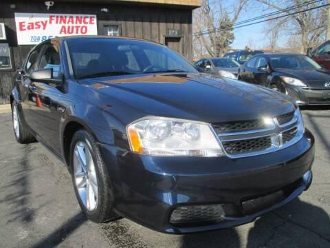 2012 Dodge Avenger for sale at EZ Finance Auto in Calumet City IL