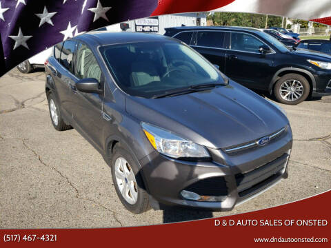 2014 Ford Escape for sale at D & D Auto Sales Of Onsted in Onsted MI