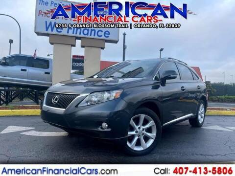2010 Lexus RX 350 for sale at American Financial Cars in Orlando FL