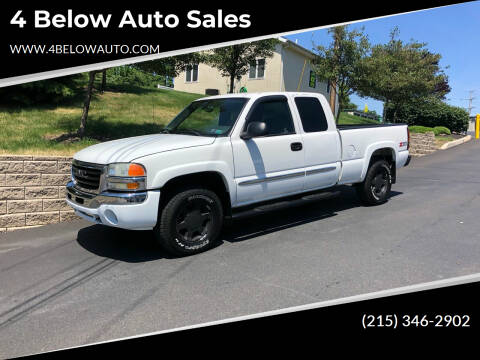 2004 GMC Sierra 1500 for sale at 4 Below Auto Sales in Willow Grove PA
