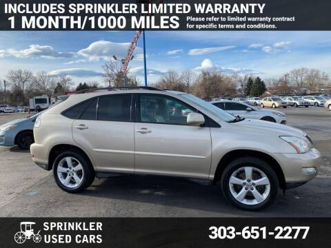 2007 Lexus RX 350 for sale at Sprinkler Used Cars in Longmont CO