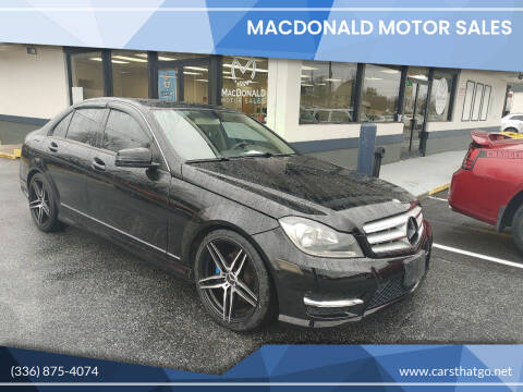 2012 Mercedes-Benz C-Class for sale at MacDonald Motor Sales in High Point NC