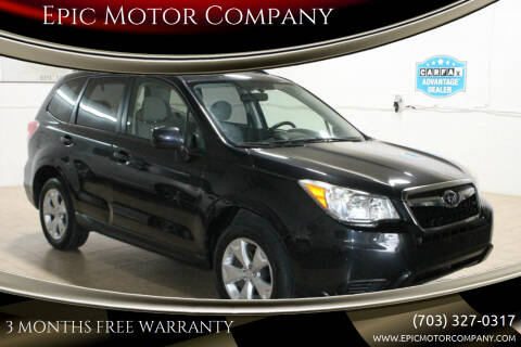 2014 Subaru Forester for sale at Epic Motor Company in Chantilly VA