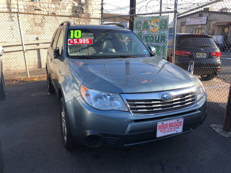2010 Subaru Forester for sale at Riverside Wholesalers 2 in Paterson NJ