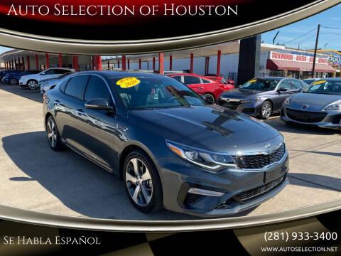2020 Kia Optima for sale at Auto Selection of Houston in Houston TX