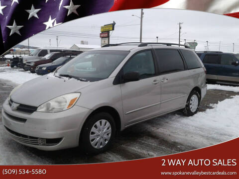2005 Toyota Sienna for sale at 2 Way Auto Sales in Spokane Valley WA