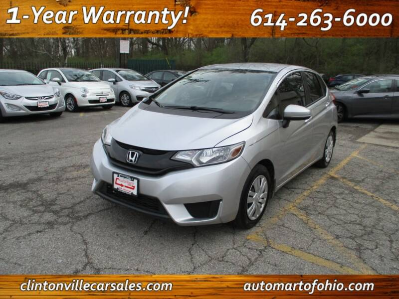 2016 Honda Fit for sale at Clintonville Car Sales - AutoMart of Ohio in Columbus OH