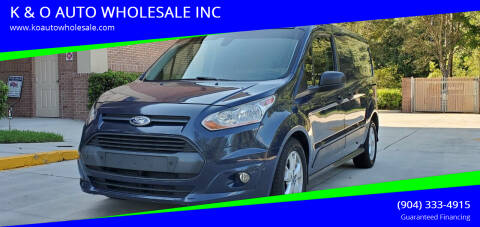 2016 Ford Transit Connect Cargo for sale at K & O AUTO WHOLESALE INC in Jacksonville FL