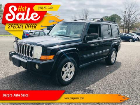 2007 Jeep Commander for sale at Carpro Auto Sales in Chesapeake VA