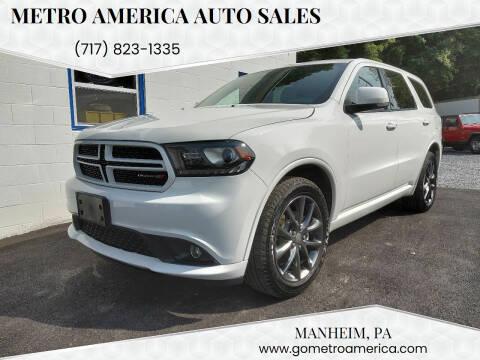 2017 Dodge Durango for sale at METRO AMERICA AUTO SALES of Manheim in Manheim PA