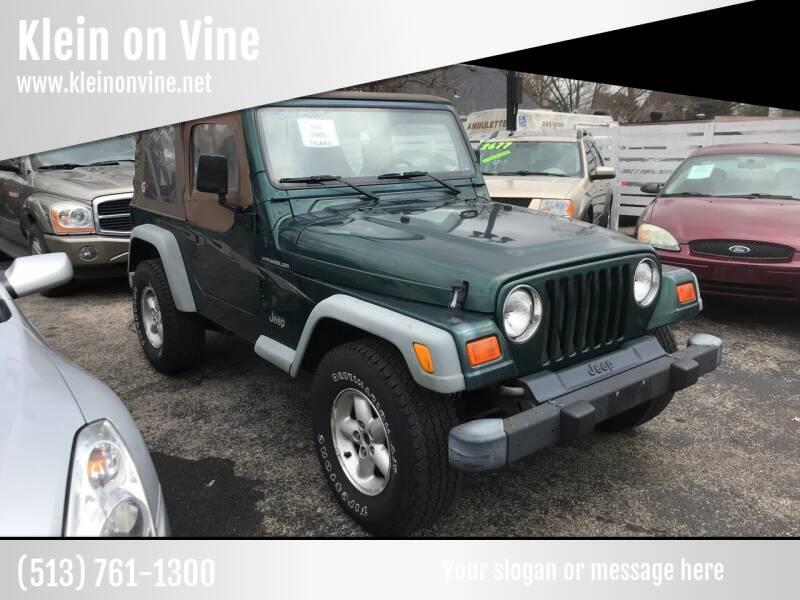 2000 Jeep Wrangler for sale at Klein on Vine in Cincinnati OH