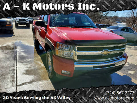 2011 Chevrolet Silverado 1500 for sale at A - K Motors Inc. in Vandergrift PA