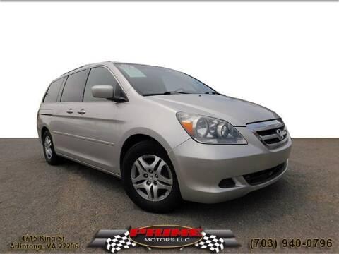 2007 Honda Odyssey for sale at PRIME MOTORS LLC in Arlington VA