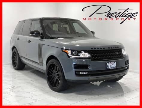 2014 Land Rover Range Rover for sale at Prestige Motorsport in Rancho Cordova CA
