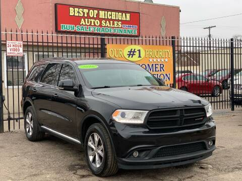 2016 Dodge Durango for sale at Best of Michigan Auto Sales in Detroit MI
