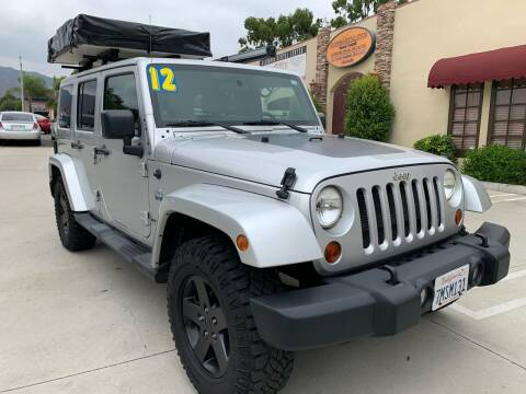 2012 Jeep Wrangler Unlimited for sale at Select Auto Wholesales in Glendora CA