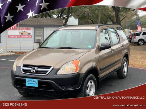 2004 Honda CR-V for sale at Central Union Auto Finance LLC in Austin TX
