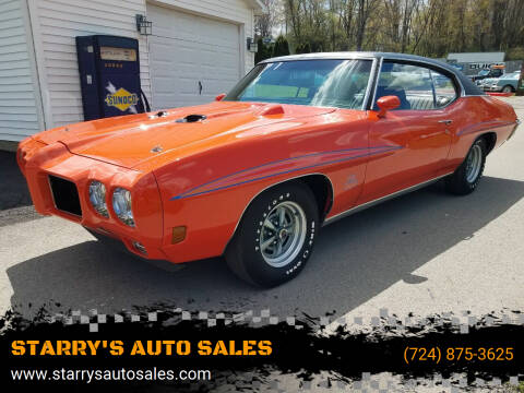 1970 Pontiac G T O for sale at STARRY'S AUTO SALES in New Alexandria PA