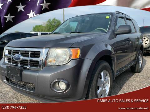 2009 Ford Escape for sale at Paris Auto Sales & Service in Big Rapids MI