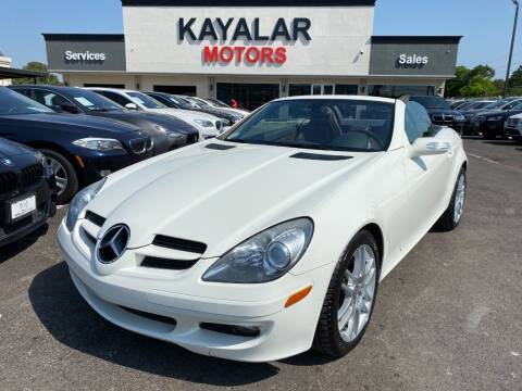 2007 Mercedes-Benz SLK for sale at KAYALAR MOTORS in Houston TX