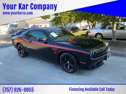 2015 Dodge Challenger for sale at Your Kar Company in Norfolk VA